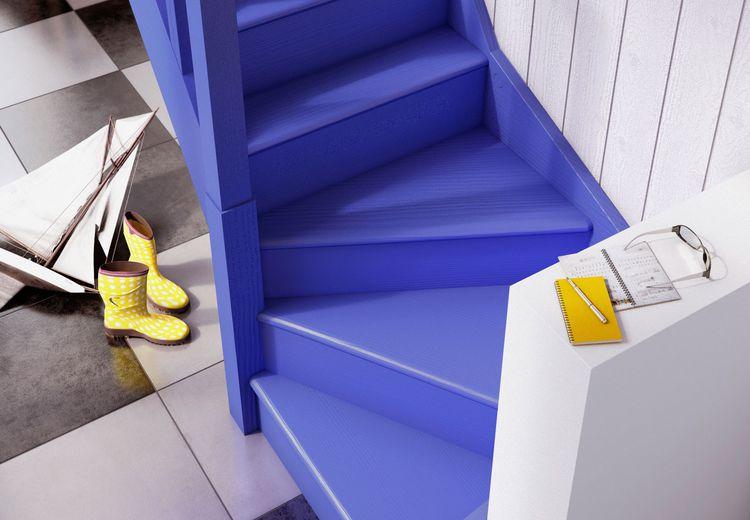 comment repeindre un escalier en bois pour le relooker le blog d co. Black Bedroom Furniture Sets. Home Design Ideas
